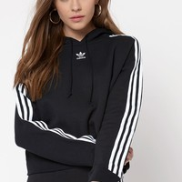 adidas Adicolor Black Cropped Hoodie at PacSun.com