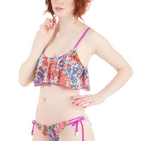 Mink Pink Boho Fresh From the Garden Swimsuit Top