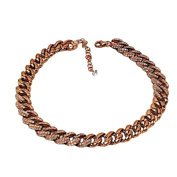 "Clear Zirconia Mix Cuban Chain Adjustable Anklet 0.9 cm 0.35"" thickness Handcrafted 925 Sterling Silver Rose Gold,White Gold,14K Gold Option/s Available"