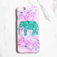 Paisley Elephant iPhone Case