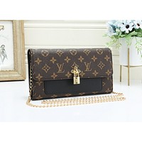 Louis Vuitton Women's fashion new light luxury chain bag small square bag shoulder Messenger bag 4#