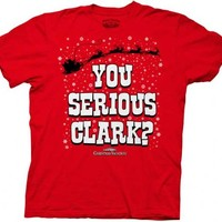 Christmas Vacation You Serious Clark? Red Adult T-Shirt Tee - National Lampoon's Christmas Vacation - | TV Store Online