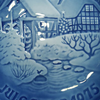 Danish Christmas Plate Blue and White China from Copenhagen Denmark Vintage Christmas Collectible Plate Gift Idea Collector Plate