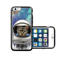 RCGrafix Brand Shawnex-SpringInk-Hipster-Geek-Astronaut-Cat-in-Space iPhone 6 Case - Fits NEW Apple iPhone 6