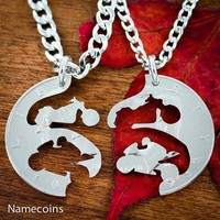 Motorcycle Jewelry, Harley and Sportbike coin necklaces