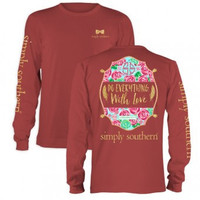 Simply Southern Prep With Love Long Sleeve T Shirt