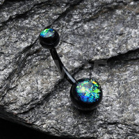 Black Opal Harmony Basic Belly Button Ring