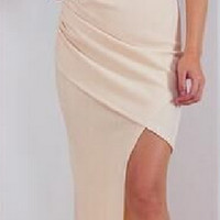 Halter Neck Irregular Slim Dress