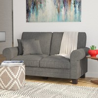 """Hereford 61"""" Rolled Arm Loveseat"""