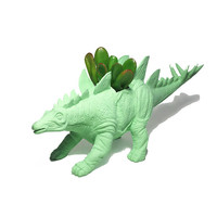 Up-cycled Large Mint Green Stegosaurus Dinosaur Planter - With Succulent Plant