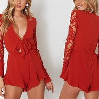 Felicia Cut-Out Sleeved Romper