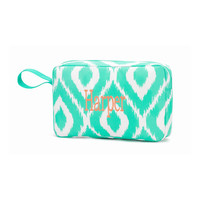 Mint Ikat Accessory Bag