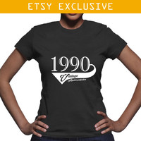 1990 Birthday Gift - Vintage Aged To Perfection T Shirt
