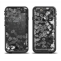 The Small Black and White Flower Sprouts Apple iPhone 6 LifeProof Fre Case Skin Set