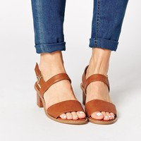 ASOS HUMOROUS Wide Fit Heeled Sandals