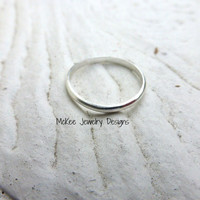 Plain band Toe Ring. Sterling silver ring.