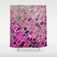 Little Pink Tiles Shower Curtain by Intrinsic Journeys