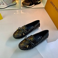 LV Louis Vuitton Women's Leather Fashion Arizona Shoes