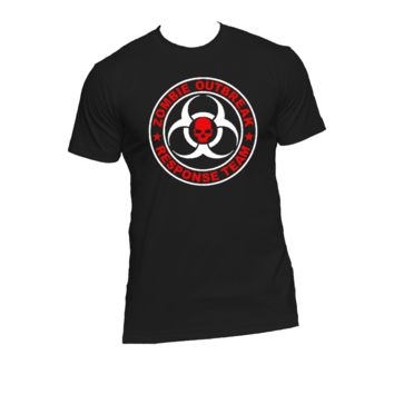 Zombie Outbreak Response Team Ladies or Mens T Shirt,Walking Dead,Nerd Girl Tees, Geek