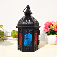 Home Decor Iron Lights Glass Home Candle Stand [6282956870]