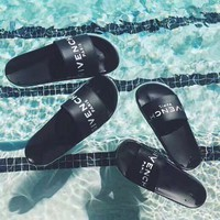 givenchy paris andals comfortable loose casual slippers