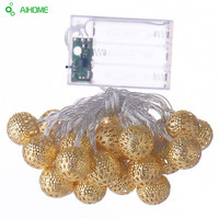Golden Moroccan 10/20/30 LED String Lights Battery Operated , Christmas Wedding Decorative Lamp lumineuse guirlande