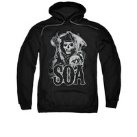 SONS OF ANARCHY SMOKY REAPER Adult Fleece Pull Over Hoodie