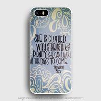 Bible Verse Proverbs 31 25 iPhone 5s Case, iPhone 5 Cases