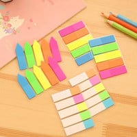 Cute Kawaii Colorful PET Memo Pad Creative Fluorescent Post It Note For Kids Office School Supplies Free Shipping 158