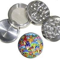 Fashion Weed Design Indian Aluminum Spice Herb Grinder Item # 110514-0023