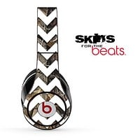 Real Camo and White Chevron Pattern Skin for the Beats by Dre Solo, Studio, Wireless, Pro or Mixr