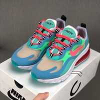 HCXX 19Aug 542 Nike Air Max 270 React AT6174-300 Fashion Women Men Breathable Running Shoes