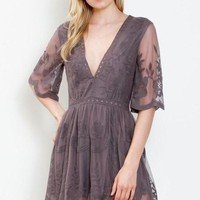 Midnight Gemma Lace Romper FINAL SALE!