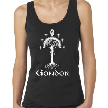 White Tree of Gondor Print Ladies or Mens Tank Top, Lord of the Rings, Tolkien, Nerd Girl Tees, Geek