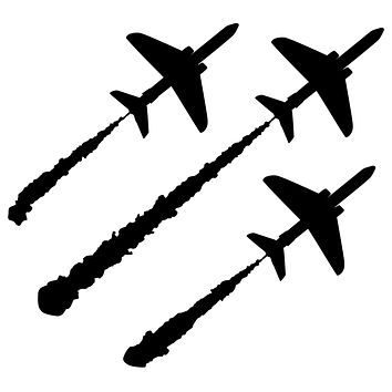Airplanes Air Show Waterproof Temporary Tattoos Lasts 3 to 4 days Choose Small, Medium or Large Sizes