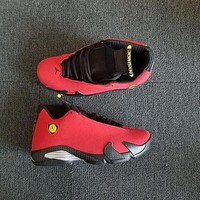 Air Jordan 14 Retro ¡°Ferrari¡± Red/Vibrant Yellow-Anthracite-Black AJ14 Sneakers