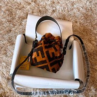 Fendi Leather Shoulder Bag Crossbody Satchel