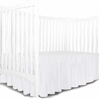 Tadpoles Dust Ruffle Crib Skirt, White