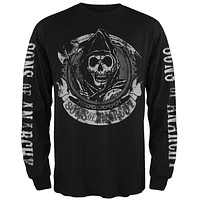 Sons Of Anarchy - Redwood Original Black Long Sleeve T-Shirt