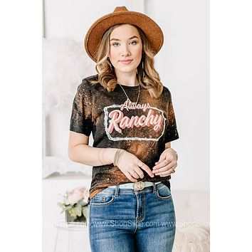 Always Ranchy Bleached Graphic Tee