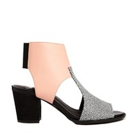 Shellys London Pink Leather Cut Out Ankle Boots - Pink