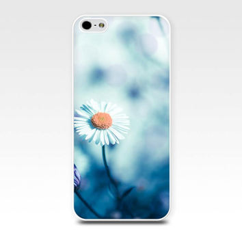 iphone 5s case floral iphone case blue teal case iphone 4s iphone 4 iphone 5 nature iphone case fien art daisy case photography girly pastel