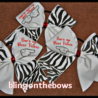 Best friends CHEER bow set of 3