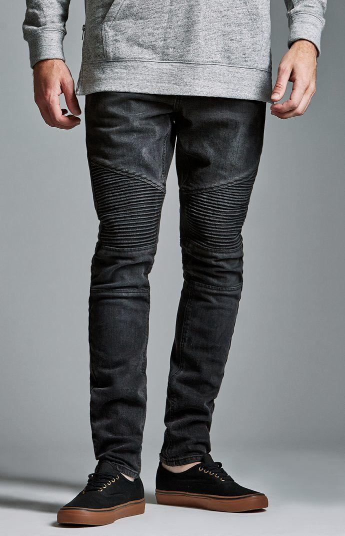 Bullhead Denim Co Black Moto Stacked From Pacsun