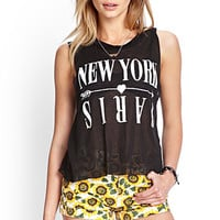 FOREVER 21 NY to Paris Muscle Tee