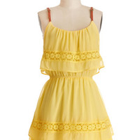 ModCloth Festival Short Sleeveless A-line Date With a Darling Dress
