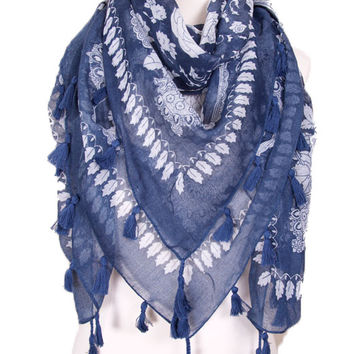 Whimsical Wonder Scarf in Navy