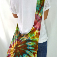 Tie Dyed Hippie Hobo Boho Cross Body Bag Messenger Purse S91987