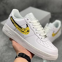 Trendsetter Nike Air Force1 Low Banana Women Men Fashion Casual Low-Top Old Skool Shoes