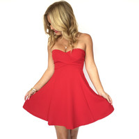 If It's Love Skater Dress In Red